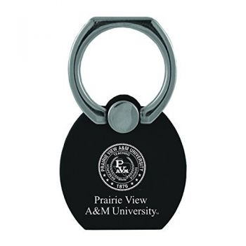 Prairie View A&M University|Multi-Functional Phone Stand Tech Ring|Black