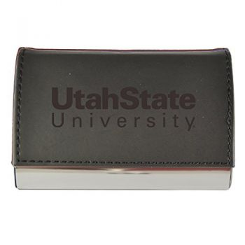Velour Business Cardholder-Utah State University-Black