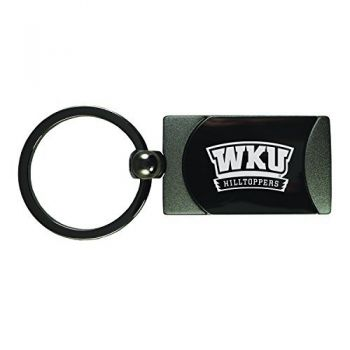 Western Kentucky University -Two-Toned Gun Metal Key Tag-Gunmetal
