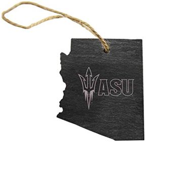 Arizona State Shaped Slate Ornament - ASU Sun Devils