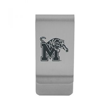 University of Memphis|Money Clip with Contemporary Metals Finish|Solid Brass|High Tension Clip to Securely Hold Cash, Cards and ID's|Gold