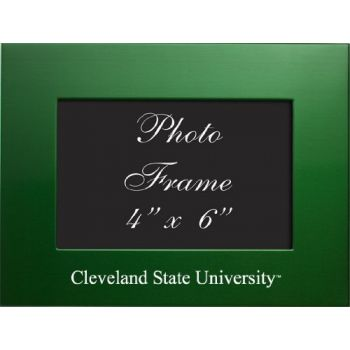 Cleveland State University - 4x6 Brushed Metal Picture Frame - Green
