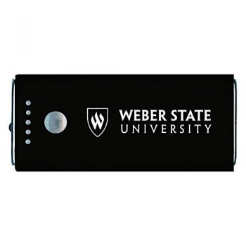 Weber State University -Portable Cell Phone 5200 mAh Power Bank Charger -Black