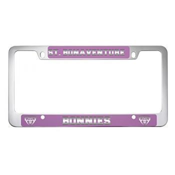 St. Bonaventure Bonnies -Metal License Plate Frame-Pink