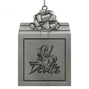 Mississippi Valley State University -Pewter Christmas Holiday Present Ornament-Silver