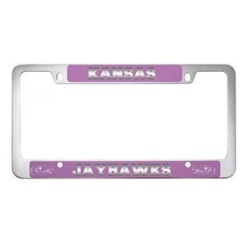 The University of Kansas-Metal License Plate Frame-Pink