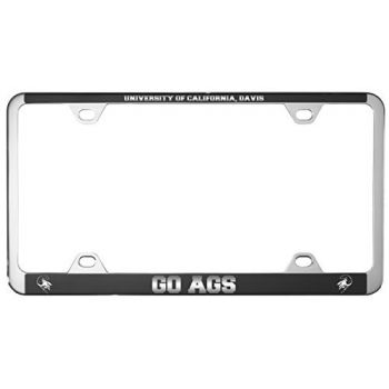 University of California, Davis -Metal License Plate Frame-Black