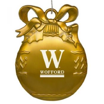 Wofford College - Pewter Christmas Tree Ornament - Gold