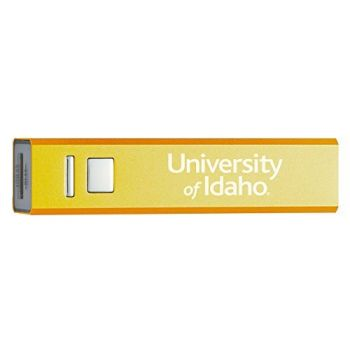 University of Idaho - Portable Cell Phone 2600 mAh Power Bank Charger - Gold