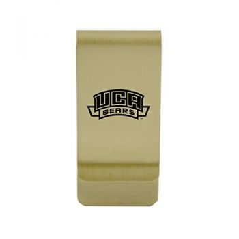 Central Michigan University Money Clip with Contemporary Metals Finish Solid Brass High Tension Clip to Securely Hold Cash, Cards and ID's Silver