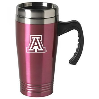 Arizona Wildcats-16 oz. Stainless Steel Mug-Pink