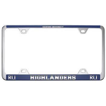 Radford University -Metal License Plate Frame-Blue