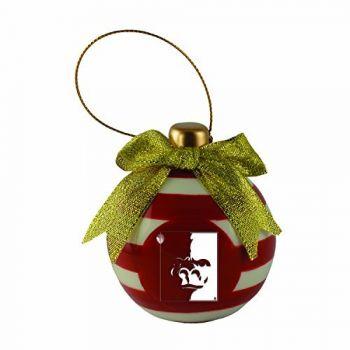 Pittsburg State University -Christmas Bulb Ornament