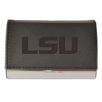 Velour Business Cardholder-Louisiana State University-Black
