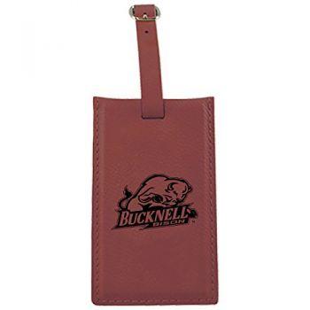 Bucknell University -Leatherette Luggage Tag-Burgundy