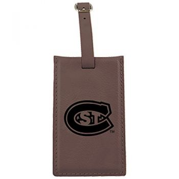 St. Cloud State University -Leatherette Luggage Tag-Brown