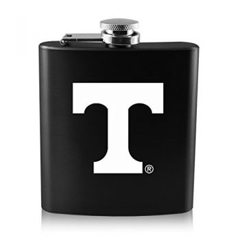 University of Tennessee -6 oz. Color Stainless Steel Flask-Black