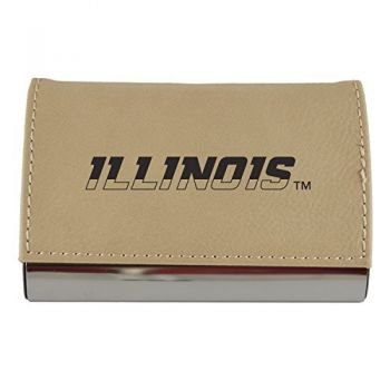 Velour Business Cardholder-University of Illinois-Tan
