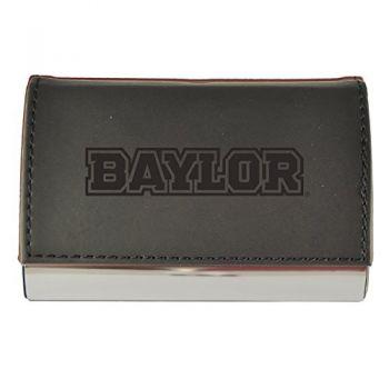 Velour Business Cardholder-Baylor University-Black