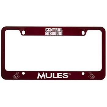 University of Central Missouri -Metal License Plate Frame-Red
