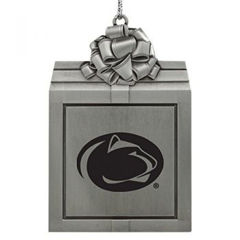 The Pennsylvania State University -Pewter Christmas Holiday Present Ornament-Silver