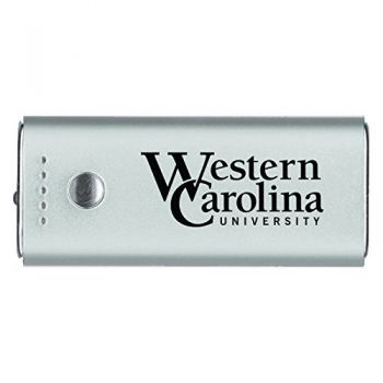 Western Carolina University -Portable Cell Phone 5200 mAh Power Bank Charger -Silver