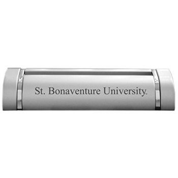 St. Bonaventure University-Desk Business Card Holder -Silver