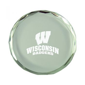 University of Wisconsin -Crystal Paper Weight