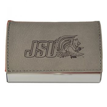Velour Business Cardholder-Jacksonville State University-Grey