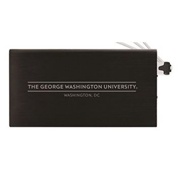 8000 mAh Portable Cell Phone Charger-George Washington University -Black