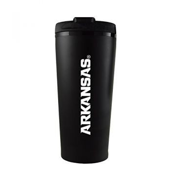 University of Arkansas-16 oz. Travel Mug Tumbler-Black