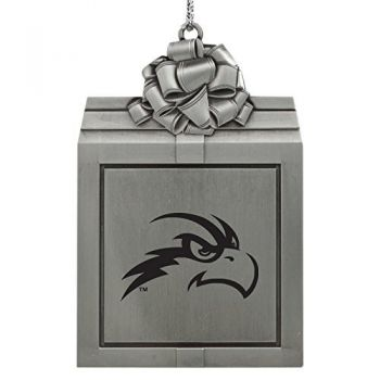 University of North Florida-Pewter Christmas Holiday Present Ornament-Silver