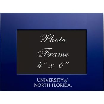 University of North Florida - 4x6 Brushed Metal Picture Frame - Blue