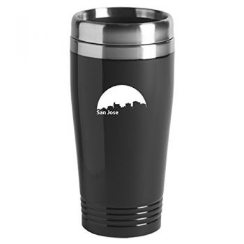 16 oz Stainless Steel Insulated Tumbler - San Jose City Skyline