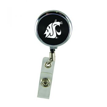 Washington State University -Retractable Badge Reel-Black