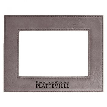 University of Wisconsin-Platteville-Velour Picture Frame 4x6-Grey