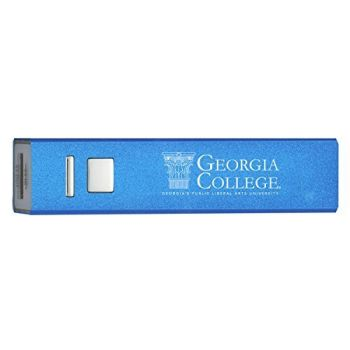 Georgia College & State University - Portable Cell Phone 2600 mAh Power Bank Charger - Blue