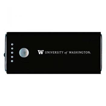 University of Washington-Portable Cell Phone 5200 mAh Power Bank Charger -Black