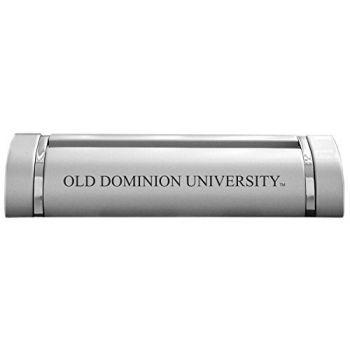 Old Dominion University-Desk Business Card Holder -Silver