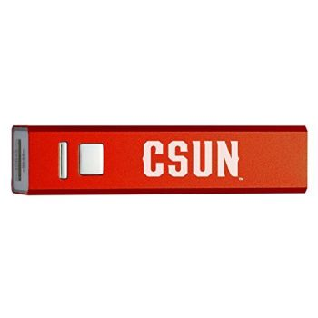California State University, Northridge - Portable Cell Phone 2600 mAh Power Bank Charger - Red