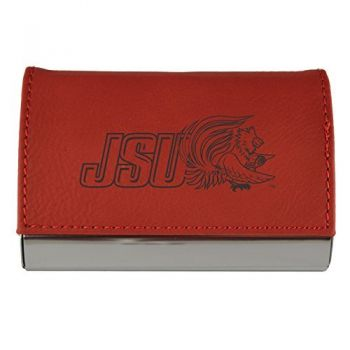 Velour Business Cardholder-Jacksonville State University-RED