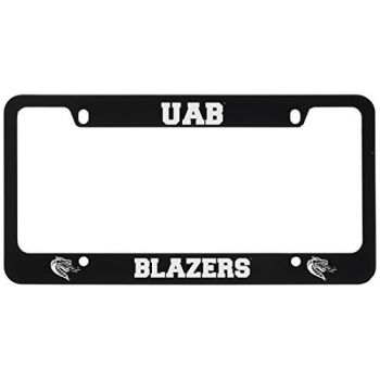 University of Alabama at Birmingham -Metal License Plate Frame-Black