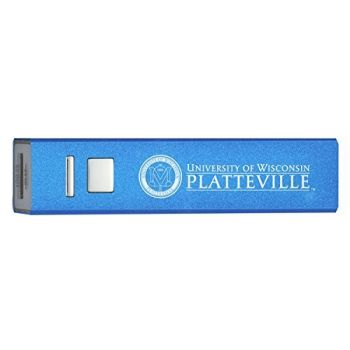 University of Wisconsin Platteville - Portable Cell Phone 2600 mAh Power Bank Charger - Blue