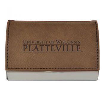 Velour Business Cardholder-University of Wisconsin-Platteville-Brown