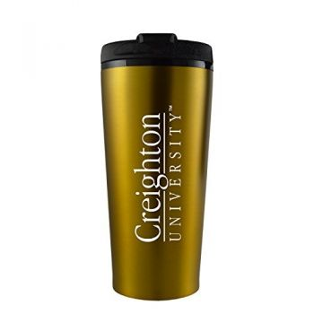 Creighton University -16 oz. Travel Mug Tumbler-Gold