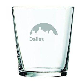 13 oz Cocktail Glass - Dallas City Skyline