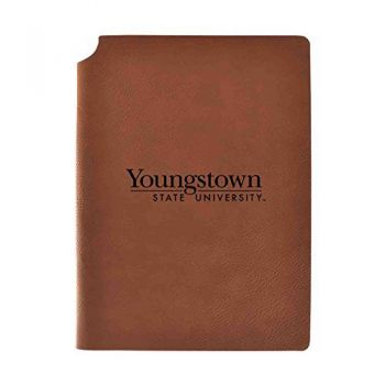 Youngstown State University Velour Journal with Pen Holder|Carbon Etched|Officially Licensed Collegiate Journal|