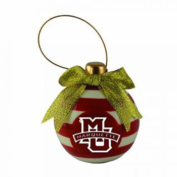 Marquette University-Christmas Bulb Ornament
