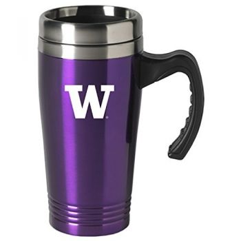 University of Washington-16 oz. Stainless Steel Mug-Purple