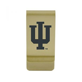 Illinois State University|Money Clip with Contemporary Metals Finish|Solid Brass|High Tension Clip to Securely Hold Cash, Cards and ID's|Silver